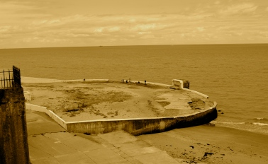 Pool in Sepia