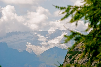 Marmolada Glacier from the Gardenacia