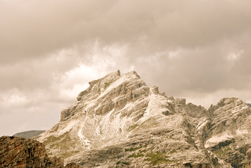Romantic view of Püez Spitze (2913m)