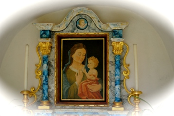 Mary and Child, in small chapel above Old Wengen