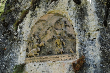 Bas-relief on the rock, at the foot of Zehner on path 16 (a.k.a. 15b)