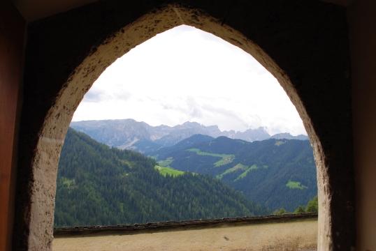 Through the door of Barbara Kapelle, Wengen