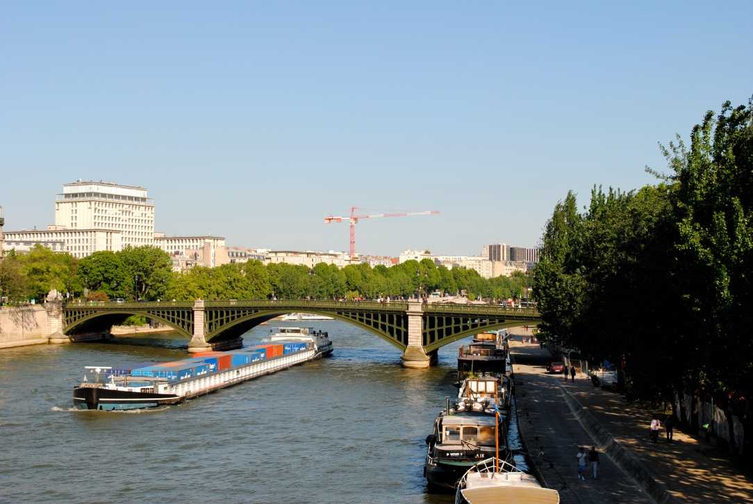Barge on the river Seine