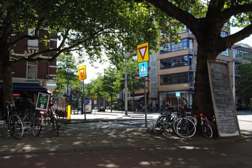 Quiet street in Rotterdam