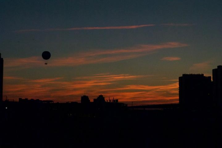 Sunset über Mitte